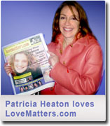 Patricia Heaton holding LoveMatters.com