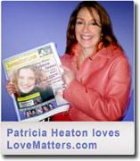 Patricia Heaton holding LoveMatters.com