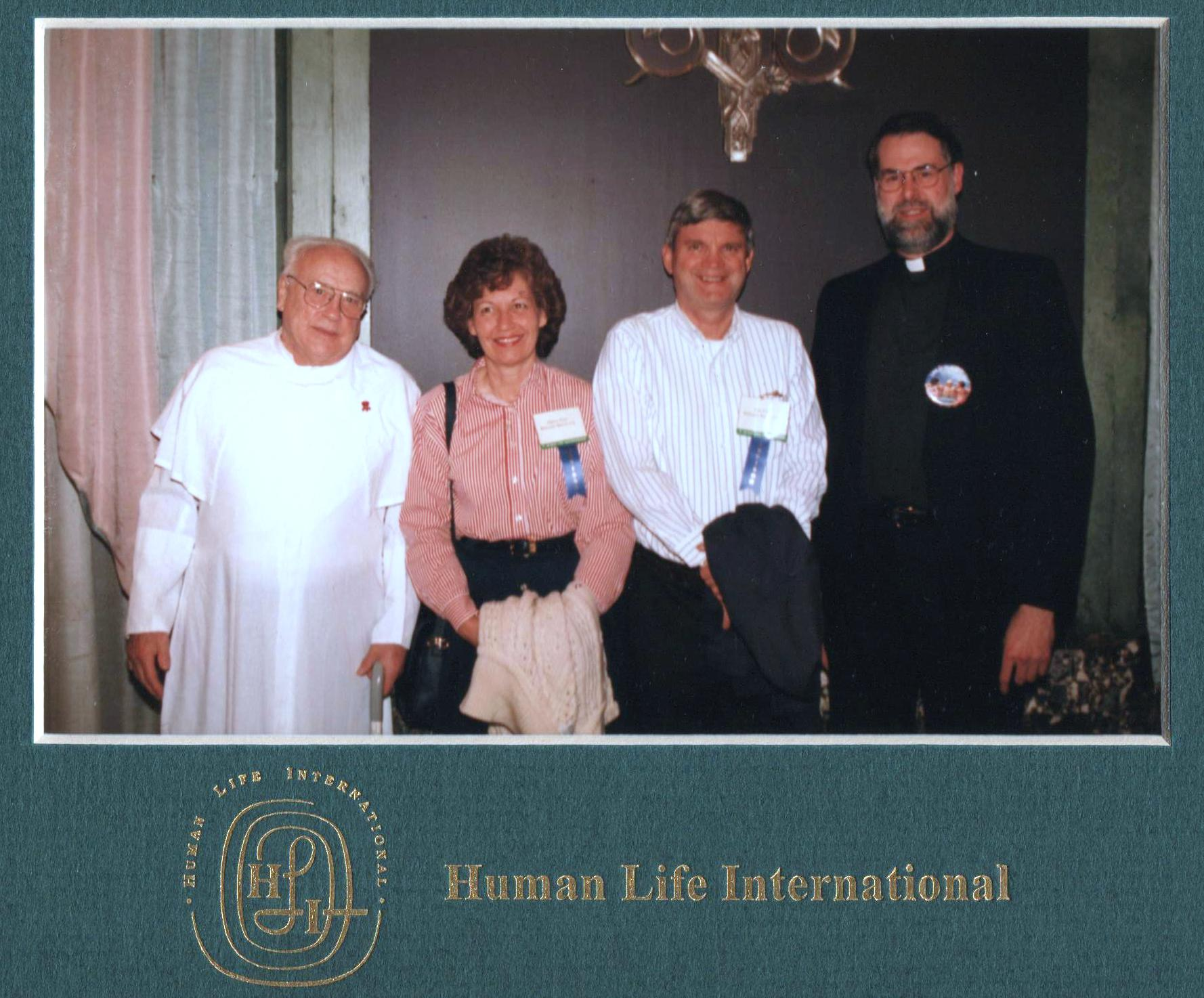 Dad, Mom with Fr. Marx and Fr. Habiger