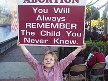 2007 Dads Grandson picketing abortion